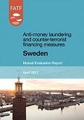 Portada del informe de evaluación mutua de Suecia del GAFI.