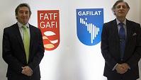 El presidente de la FATF, el argentino Otamendi, el presidente de GAFILAT, Eugenio Curia.
