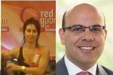 Jimena Zicavo (UIF) y el abogado Ezequiel Cassagne, protagonistas de un panel.